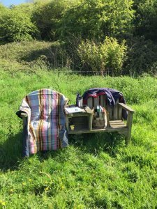 two chairs where rosie withey sits with clients when coaching them one to one in somerset uk