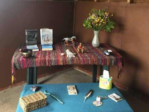Rosie witheys room where she runs equine facilitated learning sessions for people who want to go on a journey of discovery within themselves